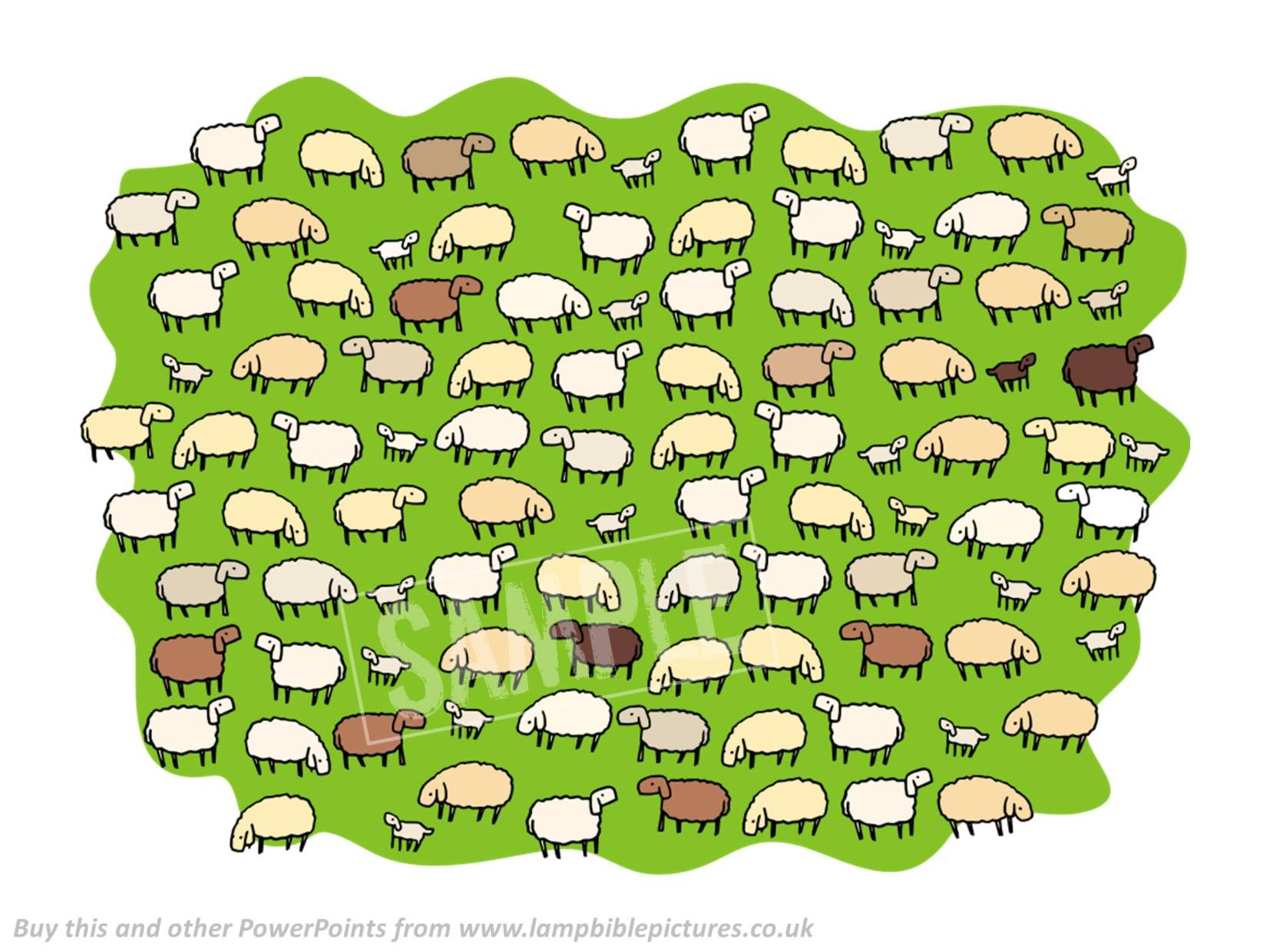 Lost Sheep | Bible pictures and Sunday school