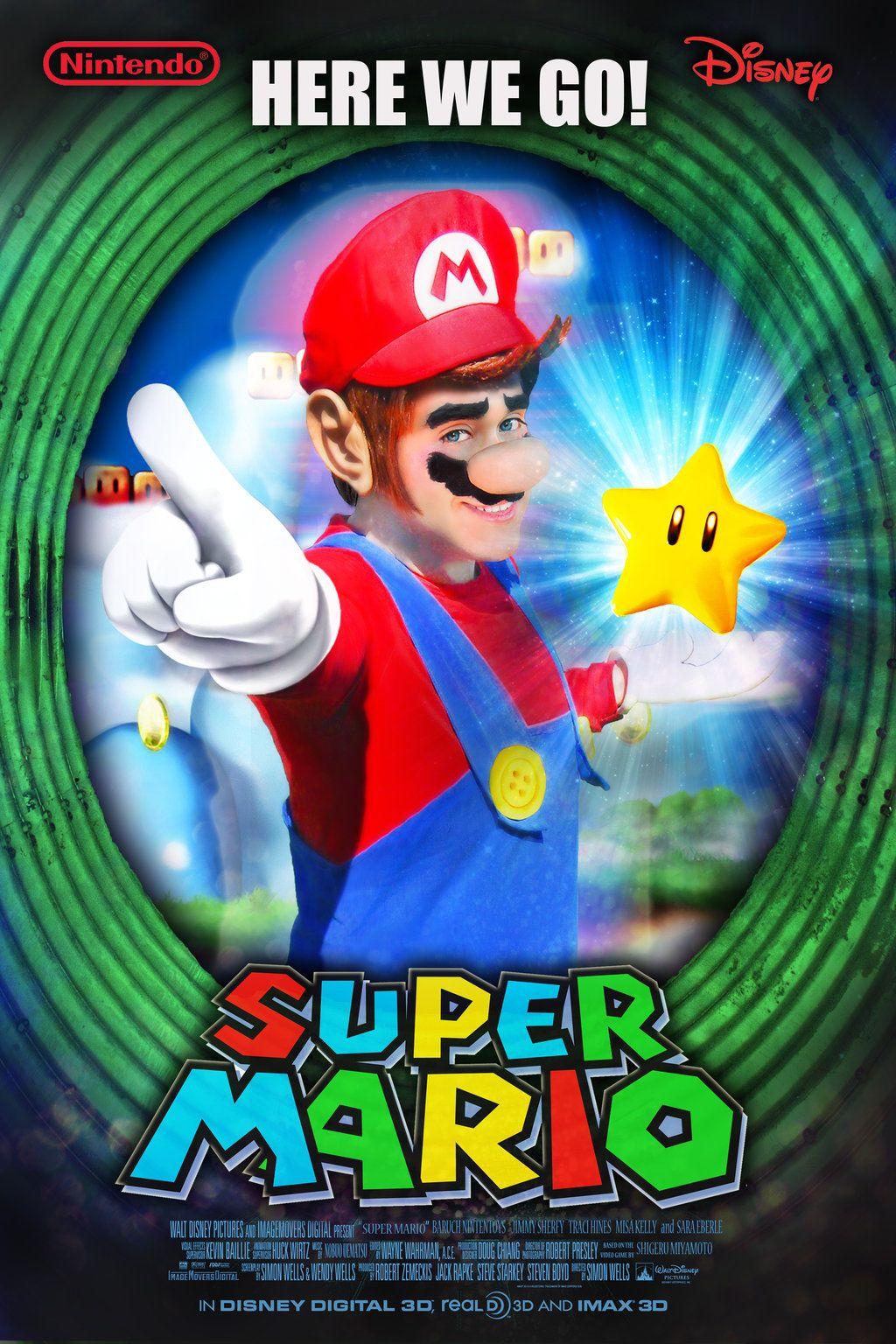 Super Mario Movie Poster By Nintentoys Deviantart Com On