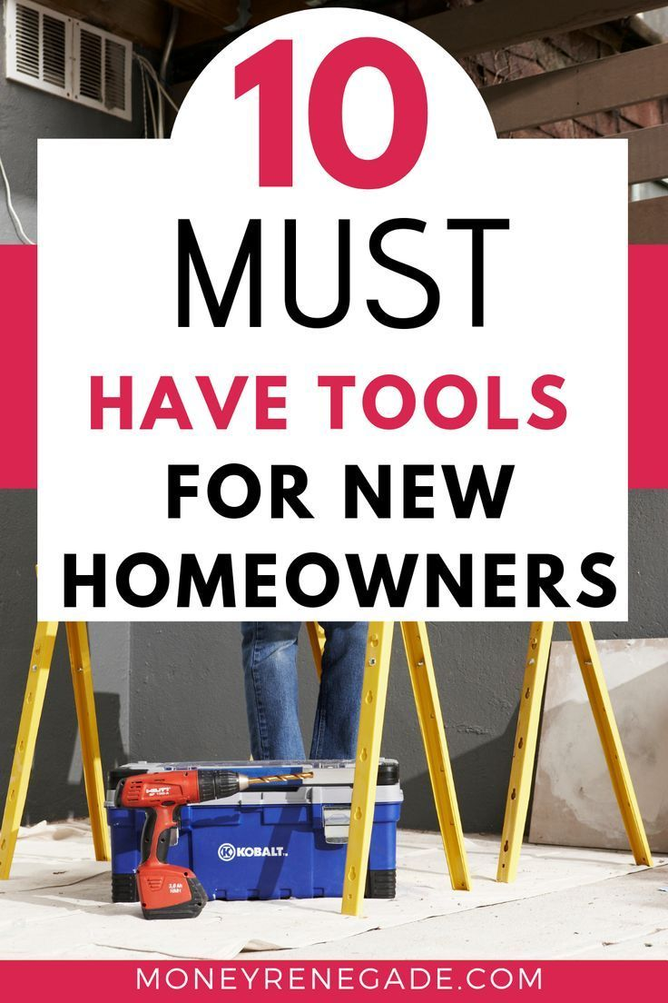 New home? If might be in great shape now, but in time it will need  repairs. You can pay through the nose or do it yourself. Here are 10  must have tools for new homeowners. #homemaintenace #tools #newhomeowner