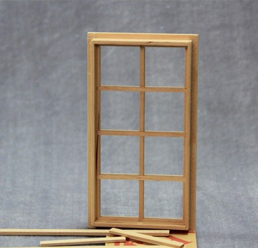 Diy 1 12 Dollhouse Miniatures Door Window Frame Doll House 8 Panel Glass Door Lot 2pcs 7 2x13 1 Cmh In Furniture Window Frame Glass Door Dollhouse Miniatures