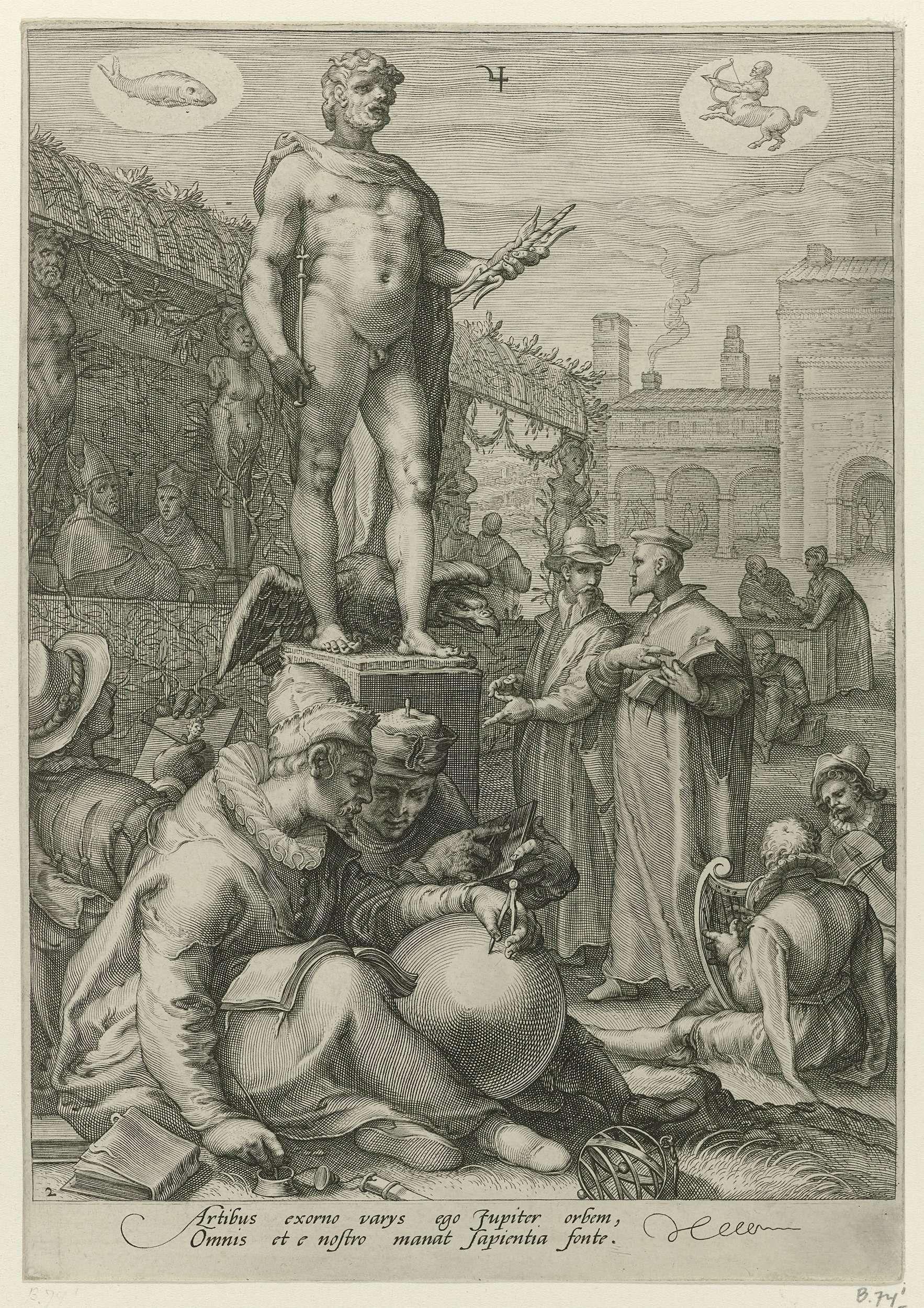 Jupiter, Jan Saenredam, Hendrick Goltzius, Cornelius Schonaeus, 1596