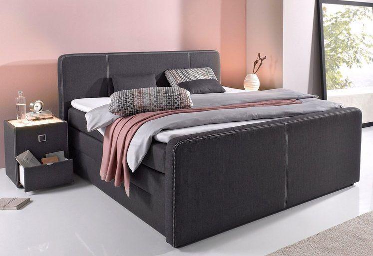Boxspringbett mit Bettkasten inkl Topper und Kissen - komplett schlafzimmer günstig
