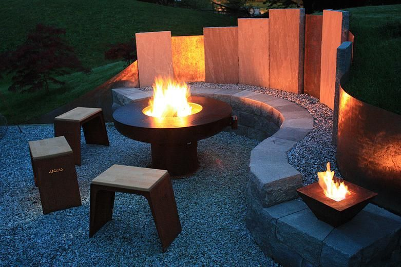 Feuerstelle Garten Feuerschale Hocker Stein Feuerschale Feuerstelle Garten Hocker Stein In 2020 Fire Pit Landscaping Perfect Patio Outdoor Playscapes