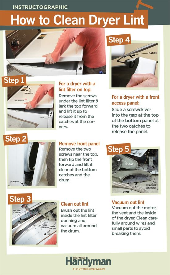 Diy Tutorial How To Clean Dryer Lint Poses A Serious Fire Hazard Your Home It S Important Out Periodically