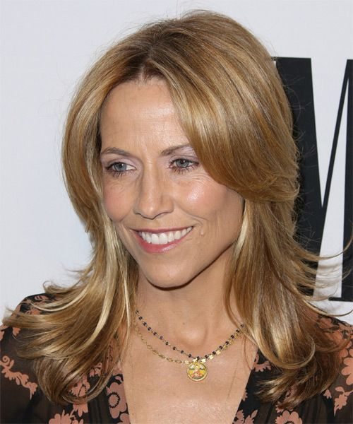 Medium Straight Hairstyles Sheryl Crow Medium Straight Casual Hairstyle  Dark Blonde Copper