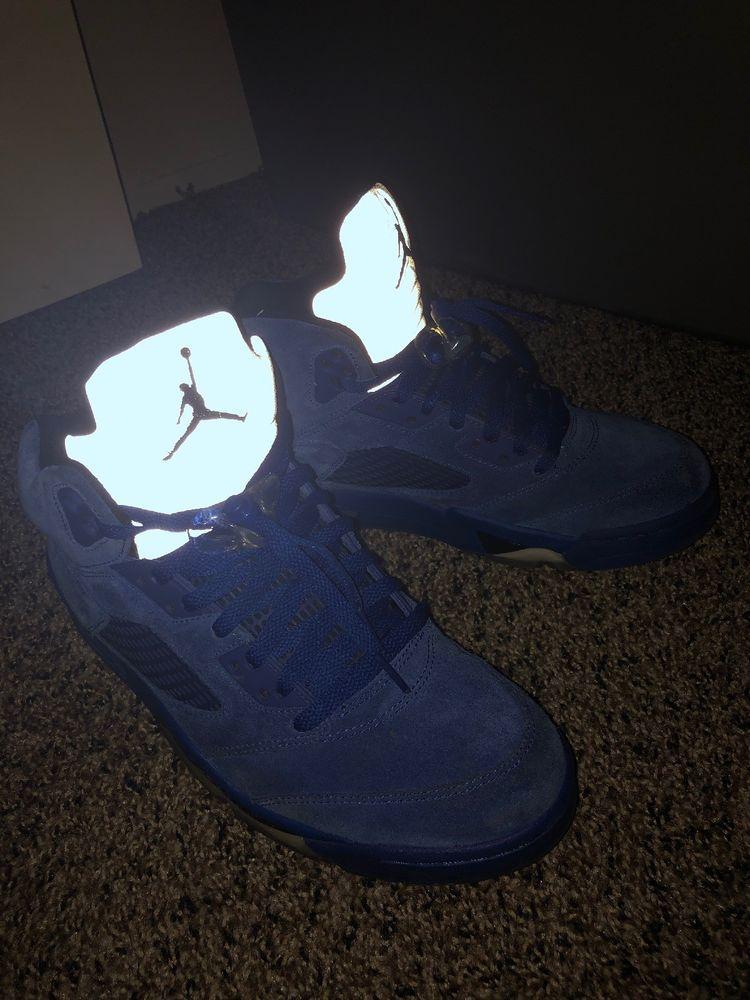 7bfe4da8b3f8f2 nike air jordan 5 retro blue suede  fashion  clothing  shoes  accessories   mensshoes  athleticshoes (ebay link)