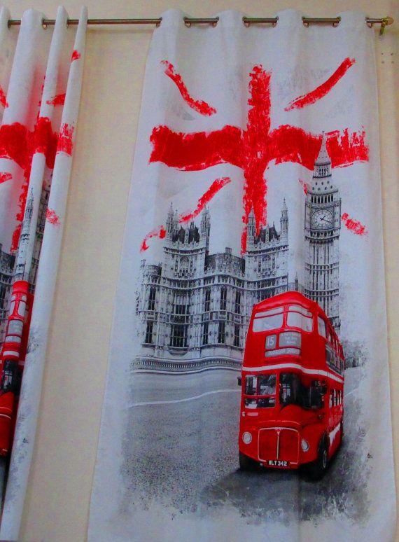 England English Flag Union Jack British By MexFabricSupplies, $30.00.  Kyndallu0027s Room, Curtains