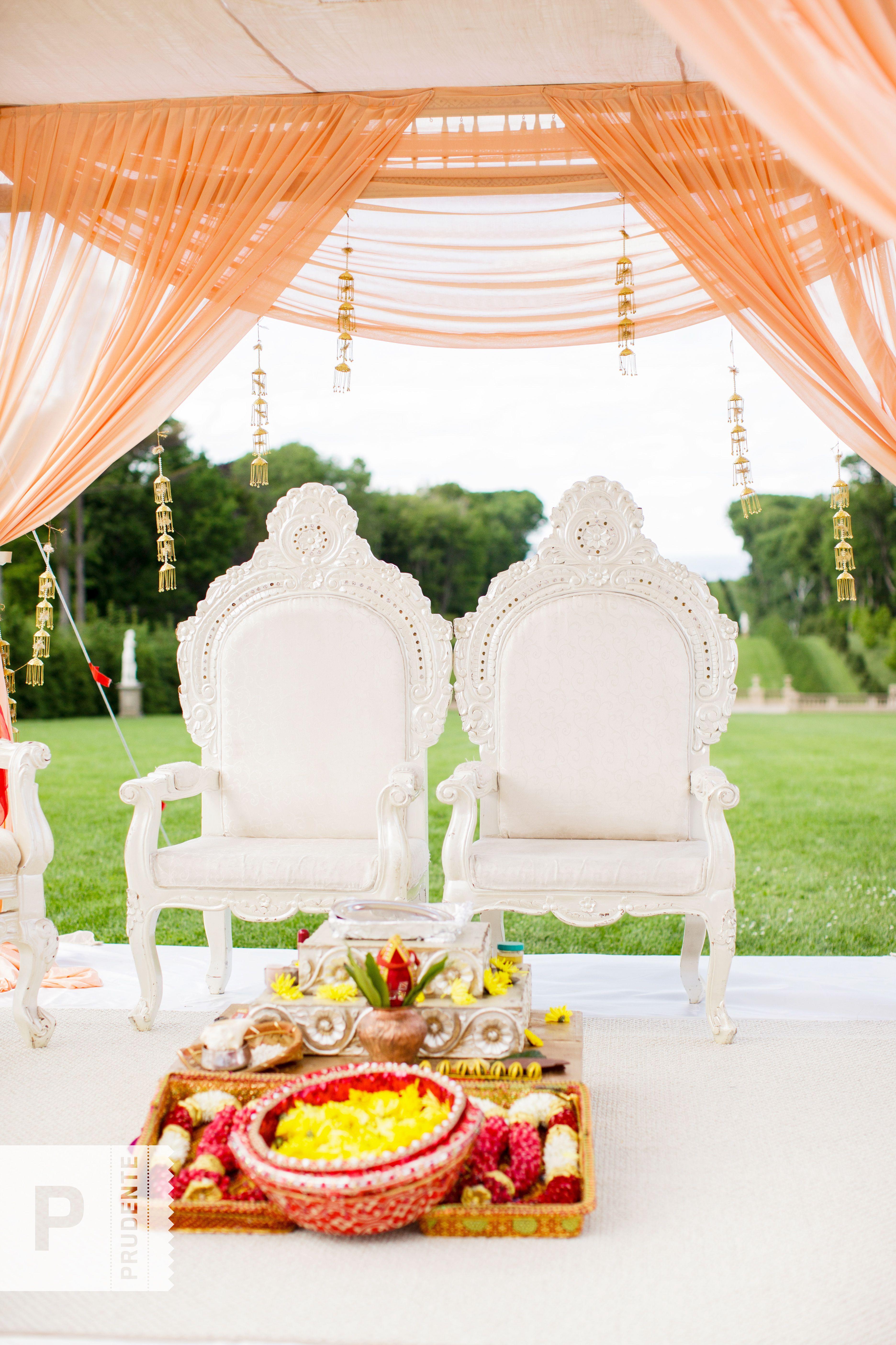 Indian wedding ceremony decor, setup and ideas. www.prudentephoto ...