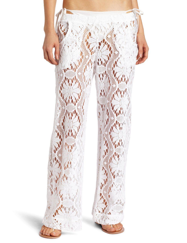 f04e994533 Trina Turk Women's Kuta Crochet Pant, (beach dress, sexy, summer clothes,  swimwear, beach wear, dress, sexy dress, alkii, bathing suit cover-up, cover -ups)