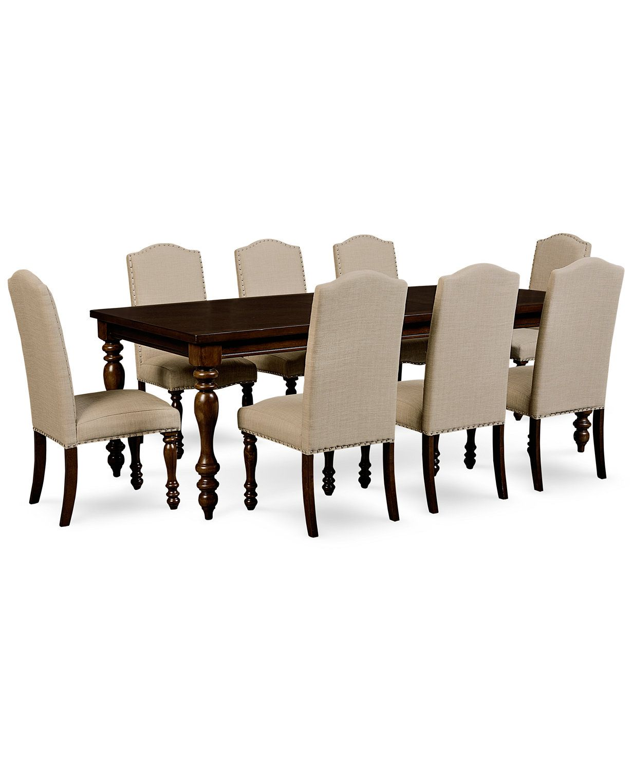 kelso 9-pc. dining set (dining table and 8 side chairs) | macys, Esstisch ideennn