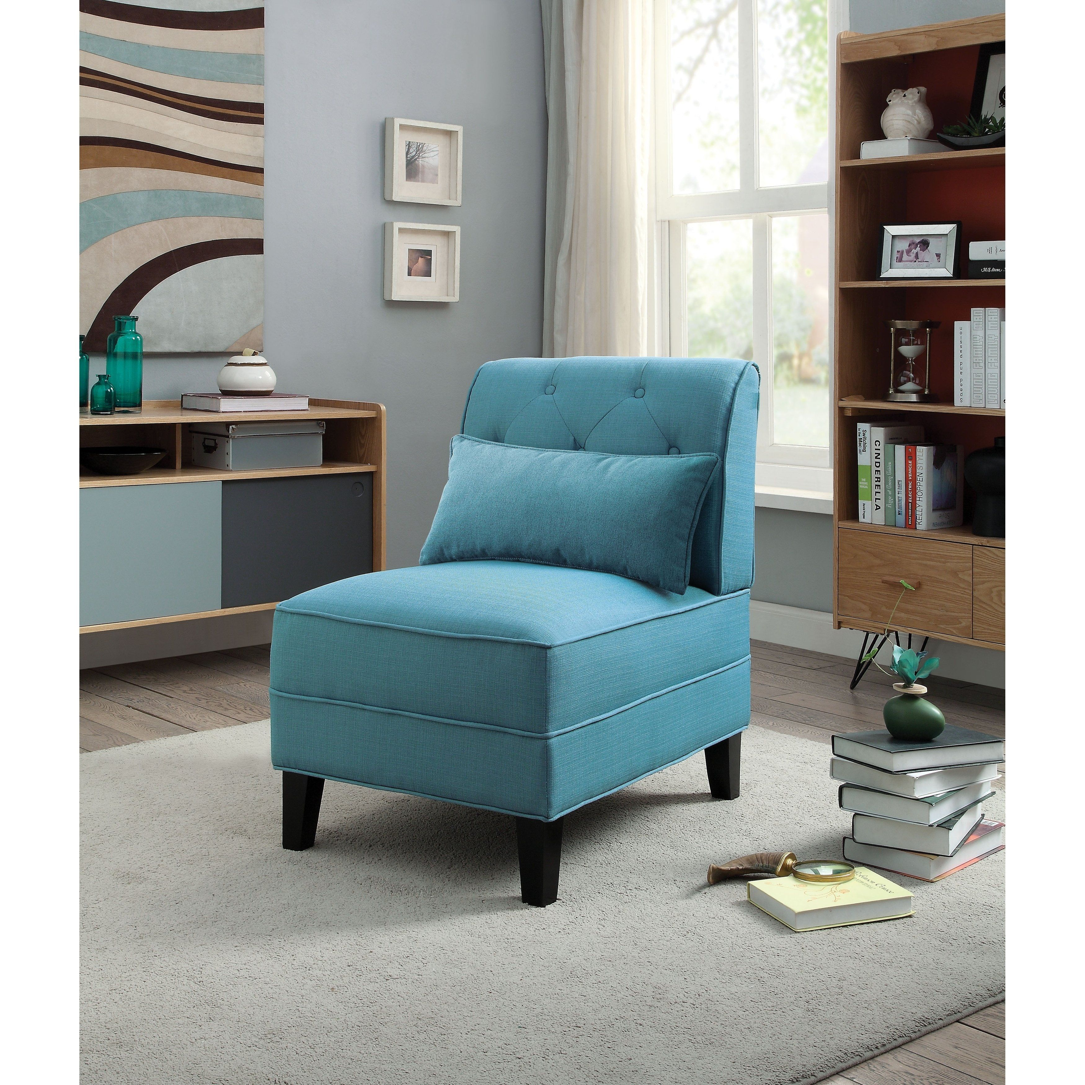 Best Riccio Slipper Chair Baby Blue Upholstered In 2019 400 x 300