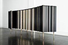 Curved Cabinet, Frame Collection|www.bocadolobo.com #modernsideboard #sideboardideas