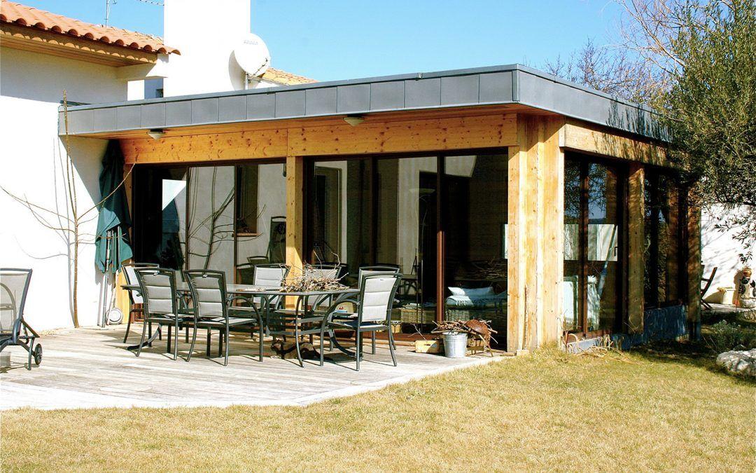 Extension ossature bois du0027une maison à Montarnaud (34) par Henri