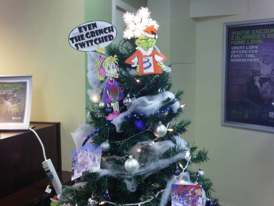 How The Grinch Stole Christmas Tree Decoration Tree Decorating Contest Northglenn Branch Christmas Tree Decorations Christmas Tree Tree Decorations