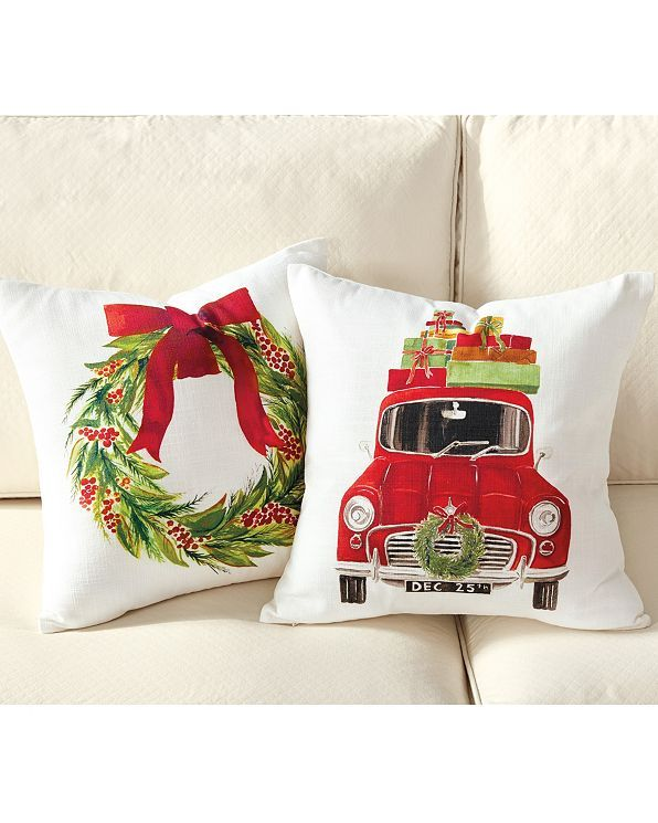 Watercolor Holiday Pillow