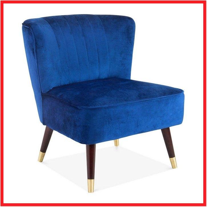 navy blue velvet chair with silver legs