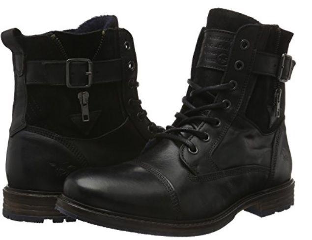 Botas negras Mustang #Botas #Calzado #ModaAmazon #ModaHombre