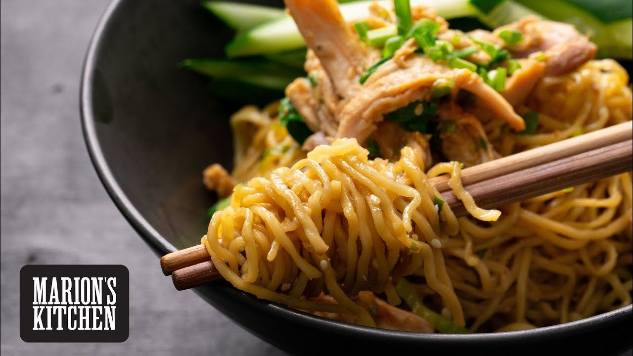 Sichuan Sesame Chicken Noodles Marion S Kitchen Sesame Chicken Chicken Noodle Asian Recipes