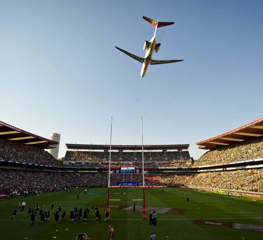 A Plane Flies Over Ellis Park Before The South Africa V New Zealand Game Springbok Rugby New Zealand Rugby South Africa Rugby