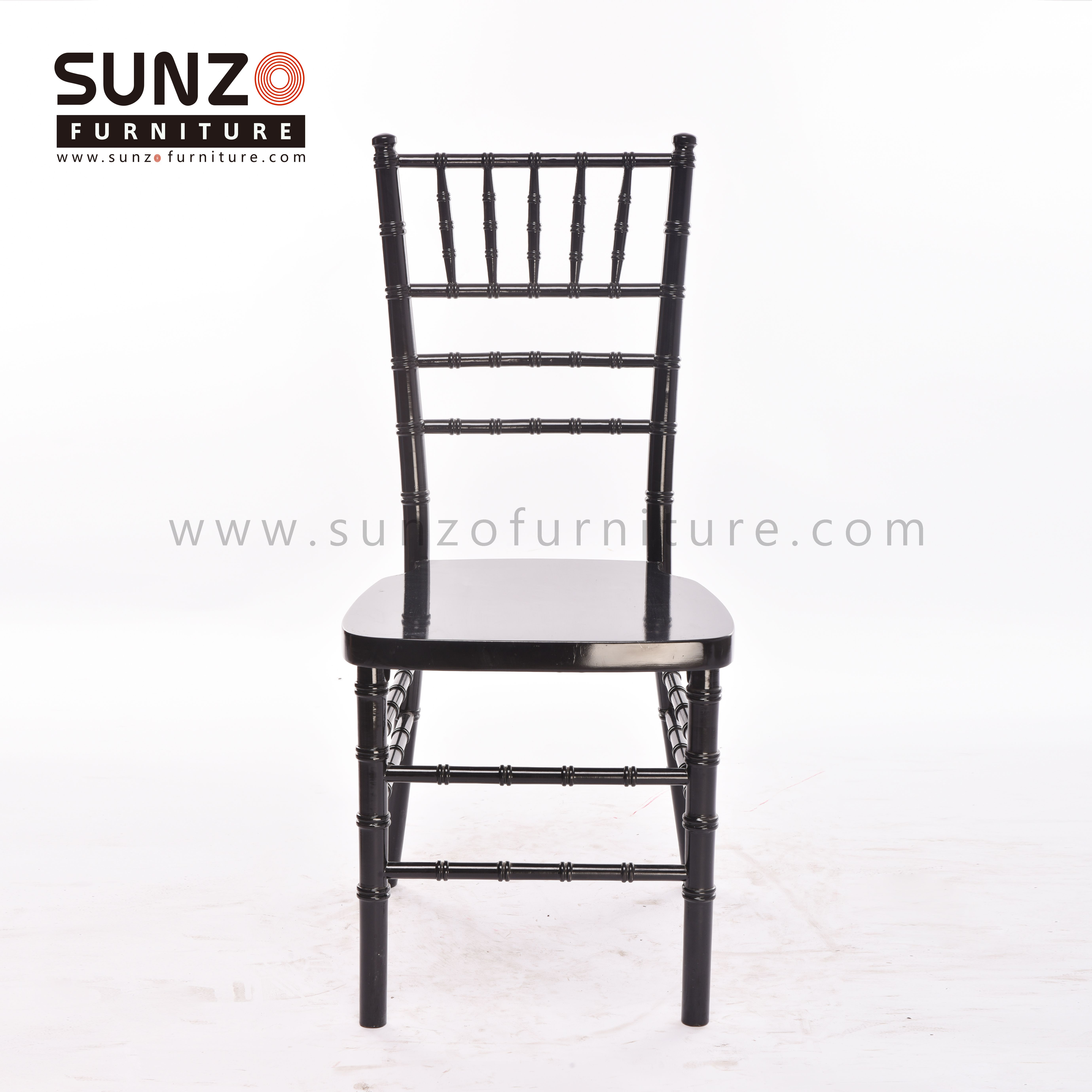 Black wood chiavari chair from our factory