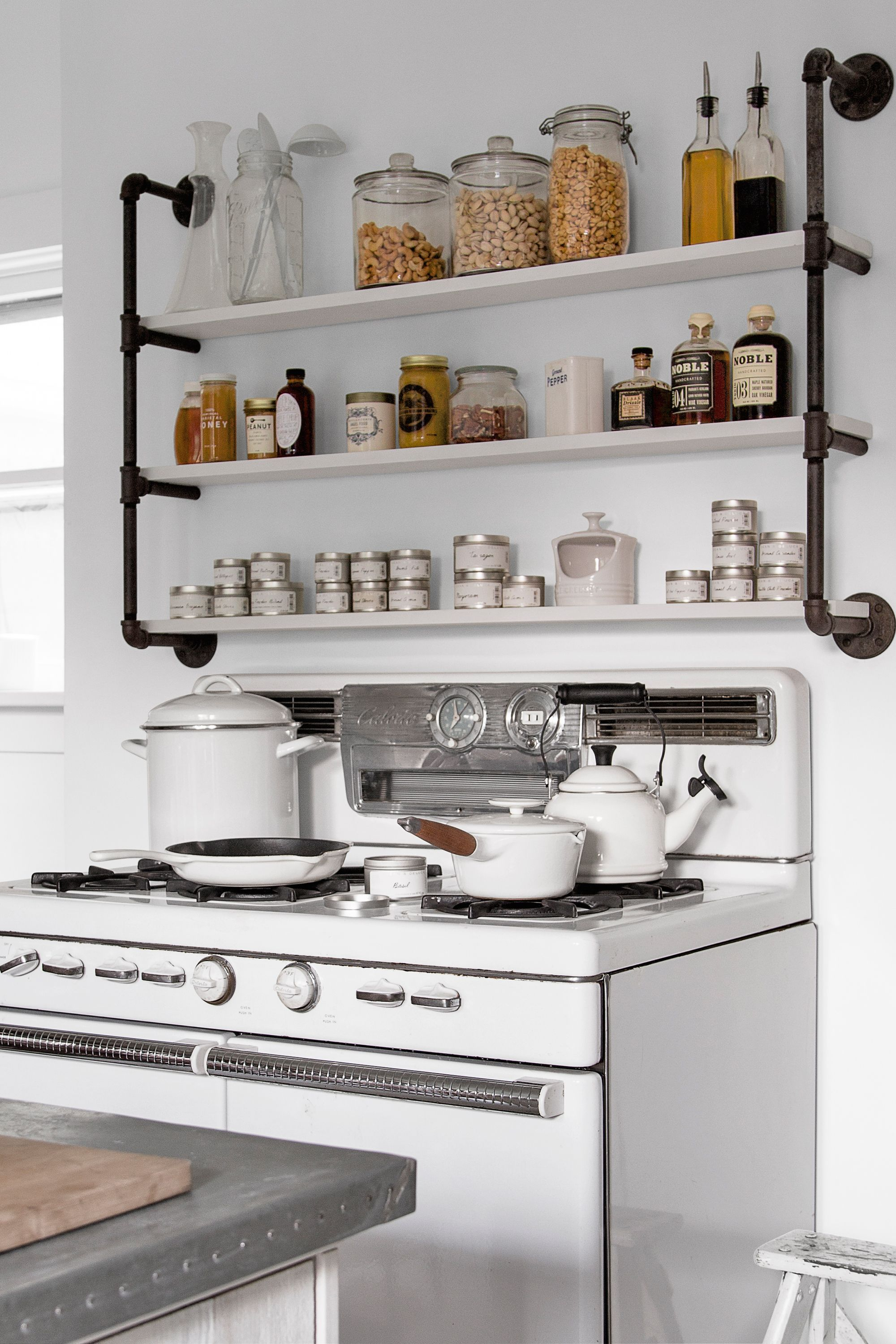 Blickfang Küche Industriedesign Beste Wahl Trial Shelves Over The Stove