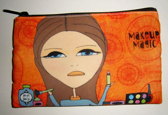 Makeup Bag by michelewithasingleL on Etsy, $12.00