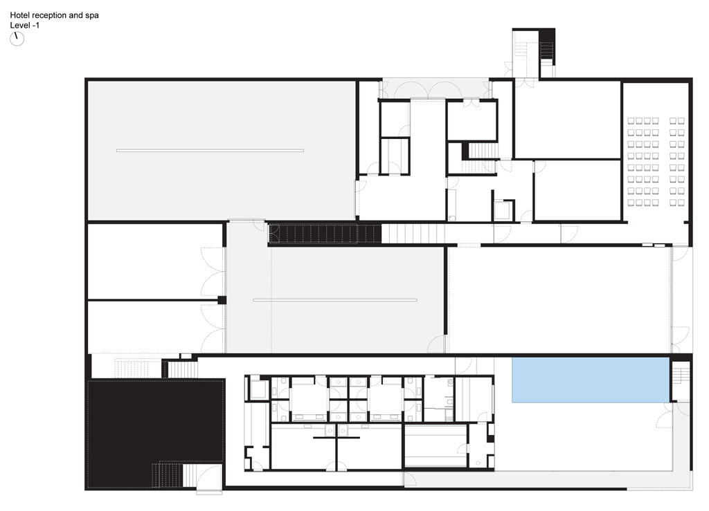 L'And Vineyards Hotel Basement bar designs, Floor plans