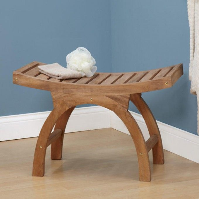 Large Teak Arched Shower Stool - ADA Compliant | MASTER BATH ...