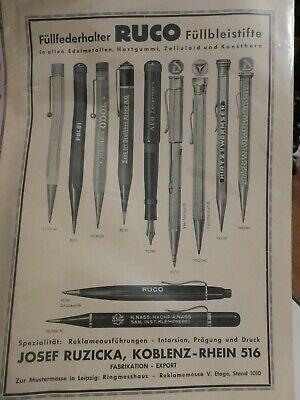 Finden Sie Top-Angebote für alte Reklame Werbeblatt Anzeige Plakat RUCO Füllfederhalter Füllbleistift selten bei eBay. Kostenlose Lieferung für viele Artikel!