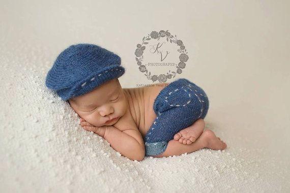 1d66b15c3f6 News boy hat jean short set by knittingbitty on Etsy