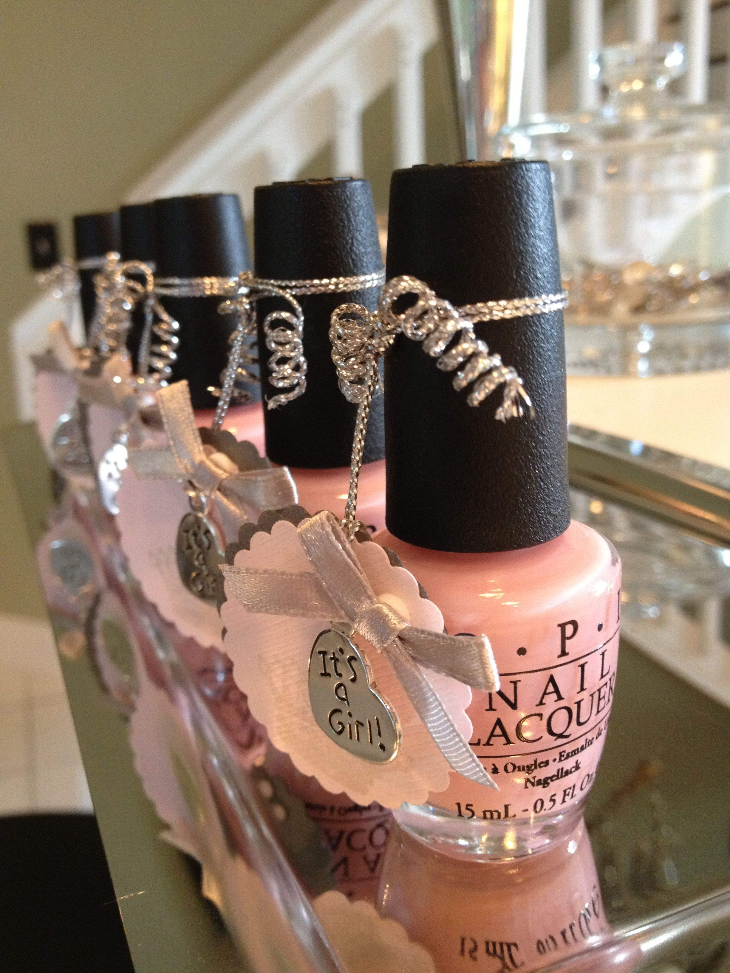 Adria S Baby Shower Favors Crowns And Rattles Nail Polish Baby