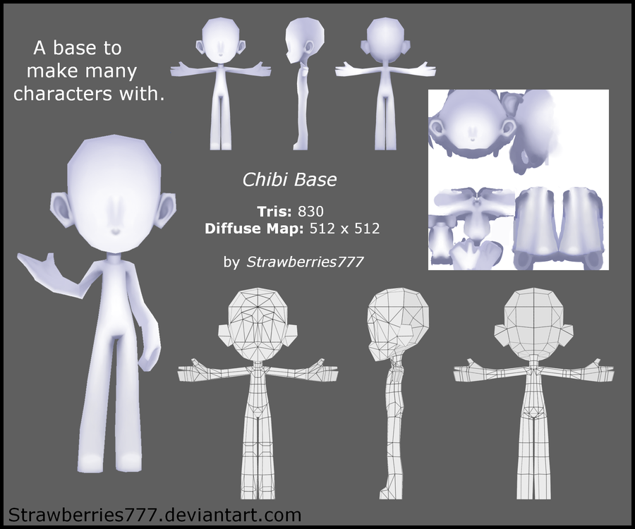 how to make a chibi in blender