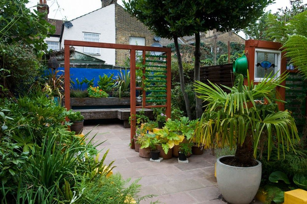 funky modern garden in east london