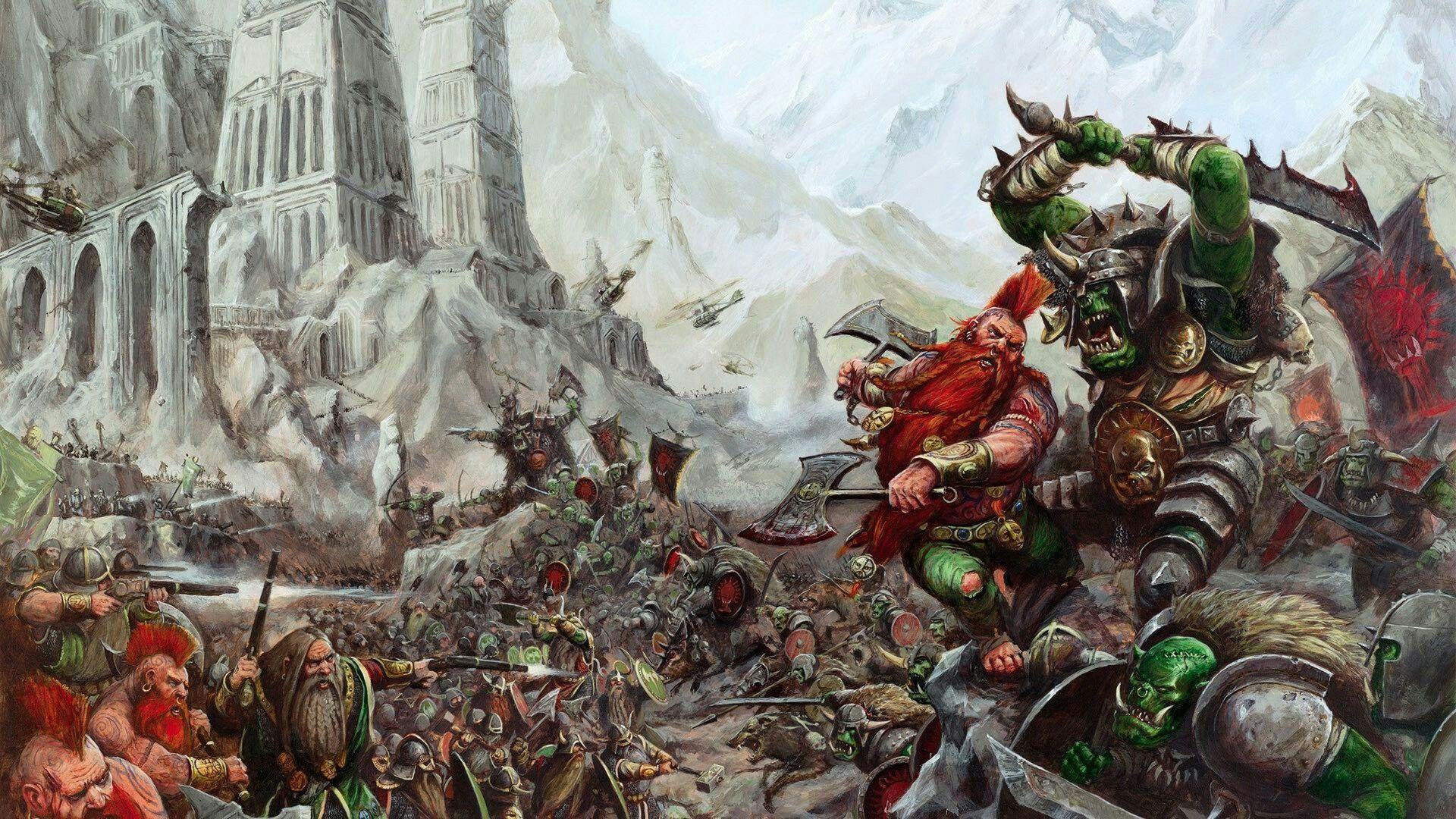 Dwarfs vs. Orcs - Warhammer