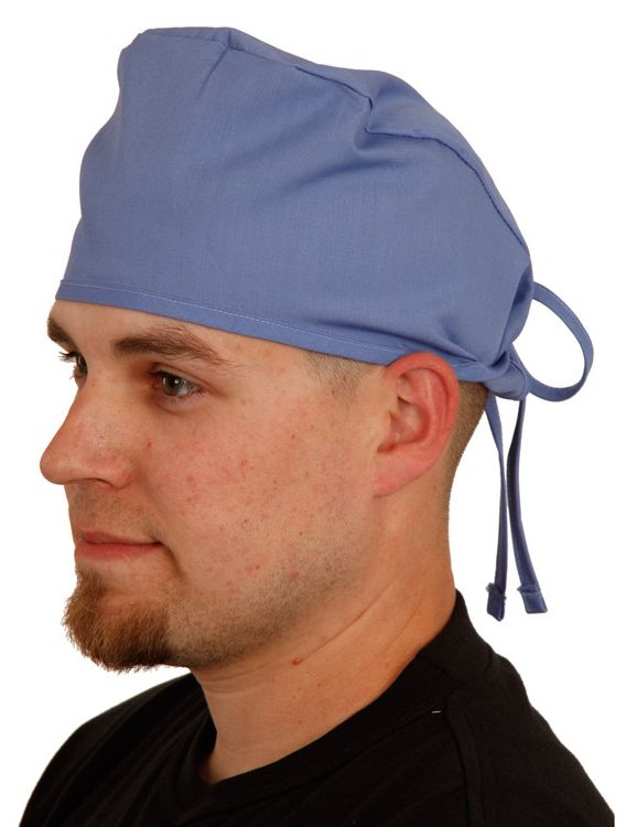 961784dcc5f Basics by allheart Unisex Tie Back Scrub Hat. This  scrubhat will  coordinate with your allheart Basics scrubs. Color featured here   Ceil.