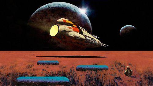Pretty Lights Glowing In The Darkest Night Dan Mcpharlin With Images Pretty Lights Science Fiction Art 70s Sci Fi Art