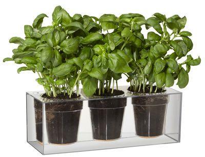 jardini re r serve d 39 eau cube pour 3 plantes boskke. Black Bedroom Furniture Sets. Home Design Ideas