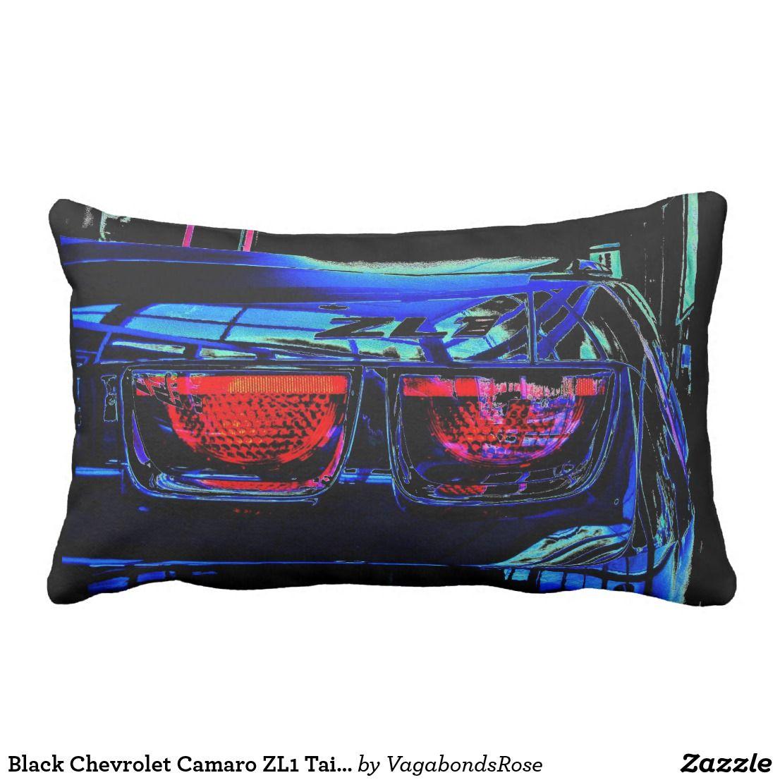 Black Chevrolet Camaro ZL1 Tail Lights And Decal Lumbar