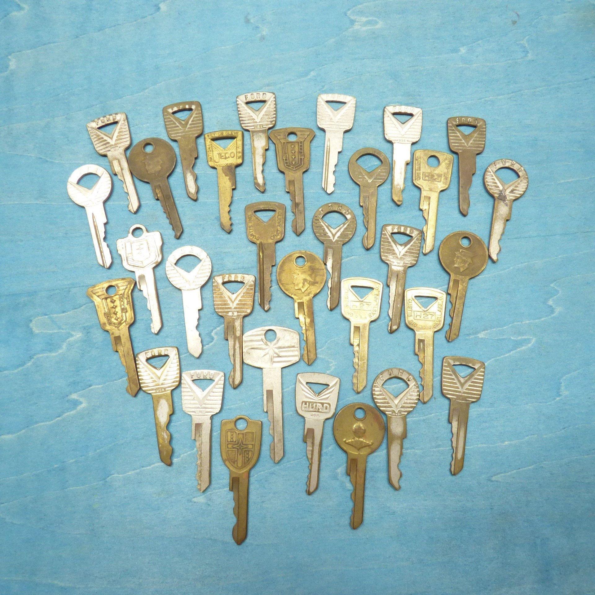 Vintage Key Lot Old Ford Keys Collection Antique Car Auto