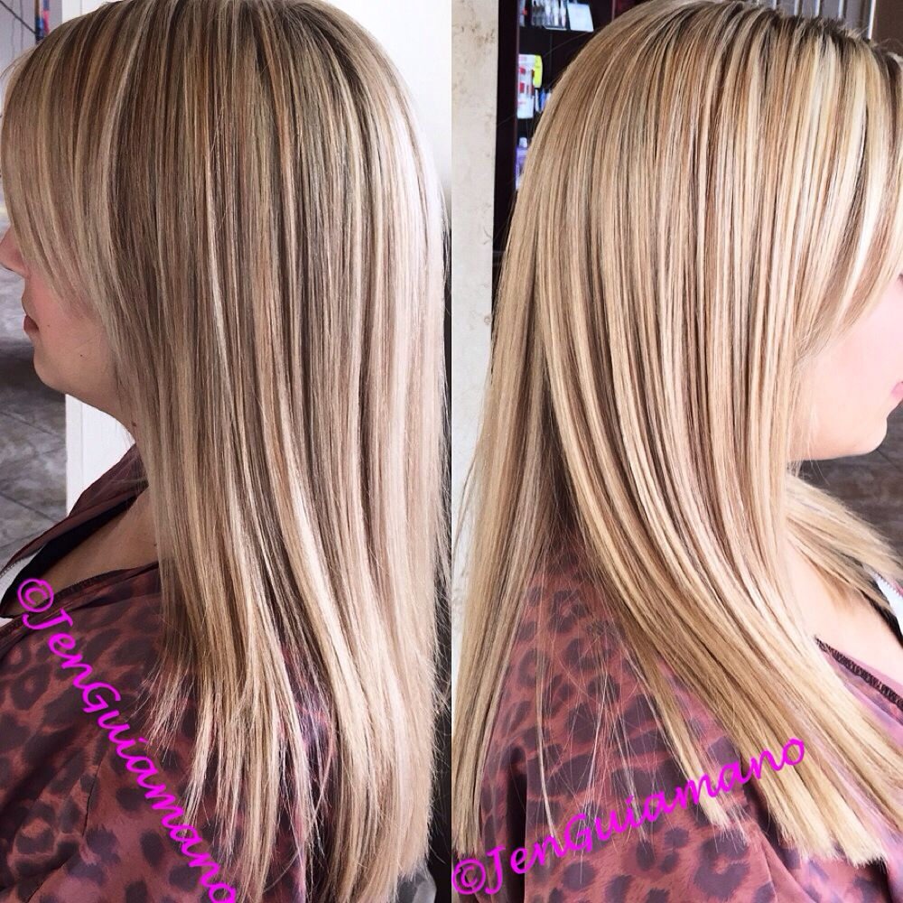 Heavily Highlighted Blonde Hair Using Goldwell Silk Lift Long