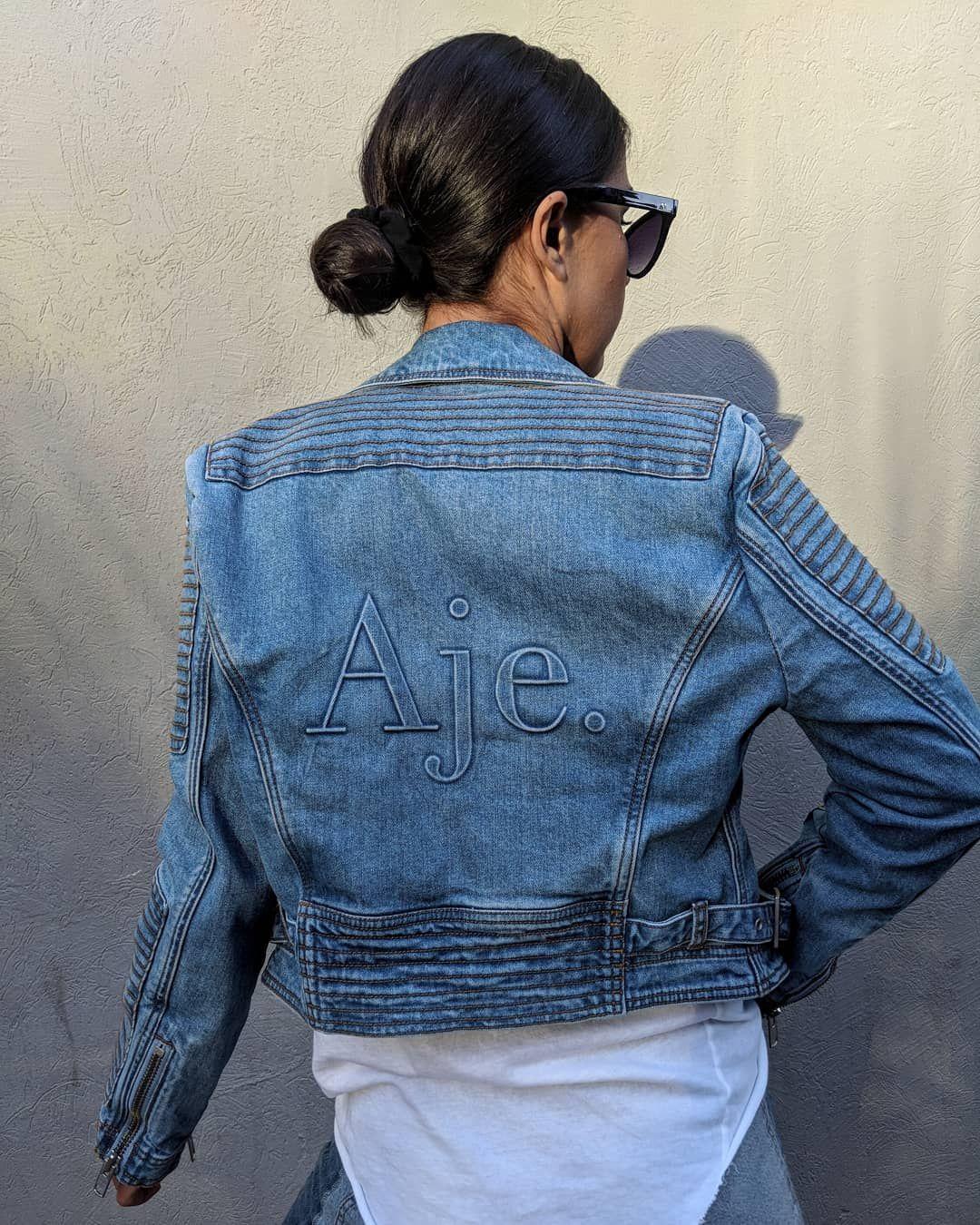 955172714 Never knew I was a denim jacket kinda girl. Until I met @_aje_ it ...
