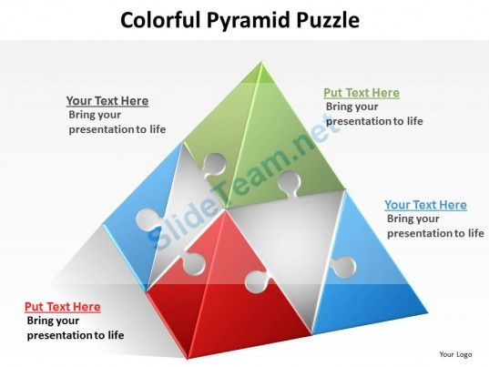 Colorful Pyramid Puzzle Powerpoint Slides Presentation Diagrams