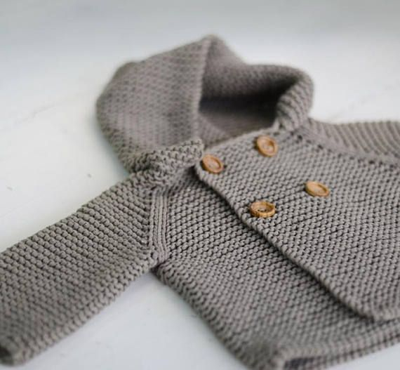 d35eaf912 Baby Sweater Knitting Pattern Jumper Basic Baby Cardigan Toddler Sweater 3-6-12-24  months to child sizes PDF file Knit Baby suit This is the basic ...