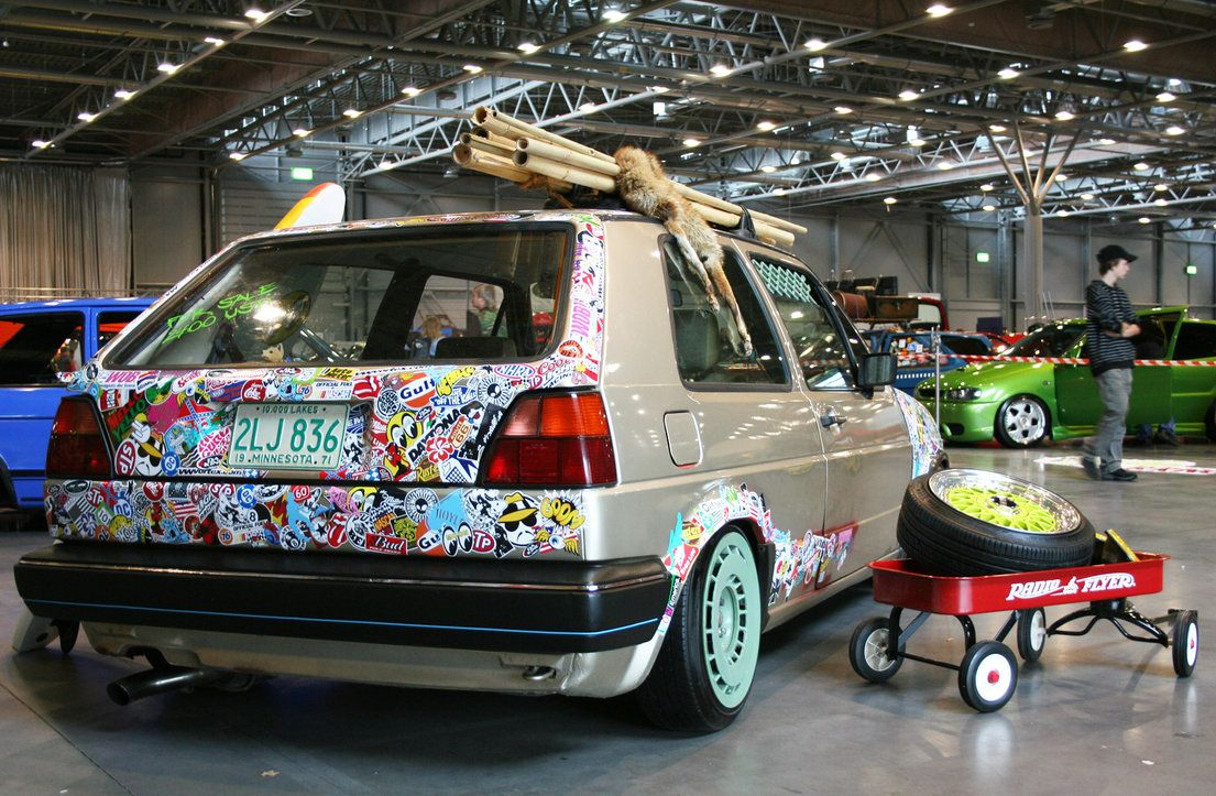 Audi r8 partial car wrapping sticker bomb stickerbomb by - Vw Golf By Xxjohnnnyxx Minus The Carcass