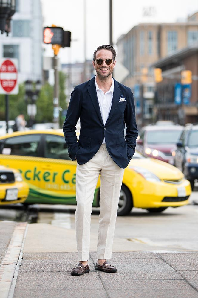 438422d58a04d He Spoke Style. If you think a polo shirt is just a shirt to wear with a  pair of khakis think again. A polo shirt under a blazer is a simple way to  look ...