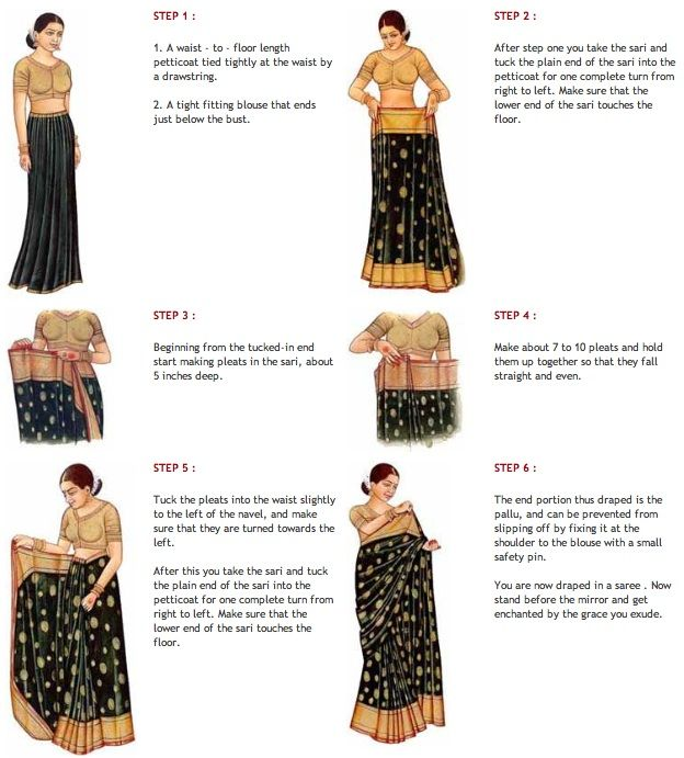 How to wrap a sari dress.