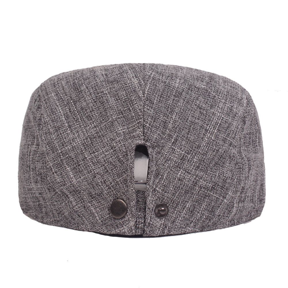 fe46912d577c Men's Cotton Breathable Wicking Sweat Adjustable Solid Thin Sunscreen Beret  Cap