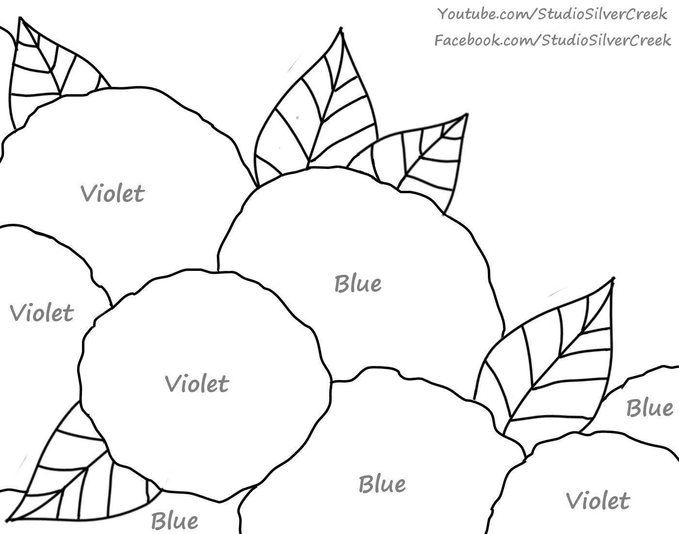 Hydrangeas printable. An Angelooney Paint In Collaboration