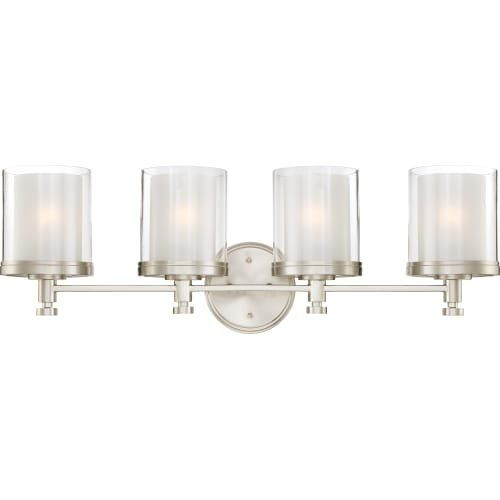 Brushed Nickel Bathroom Light Fixture. Best Bathroom Light Fixtures Nuvo 604644 Decker Brushed Nickel Four Light Vanity Read More Reviews Of The Product By Visiting The Link On The