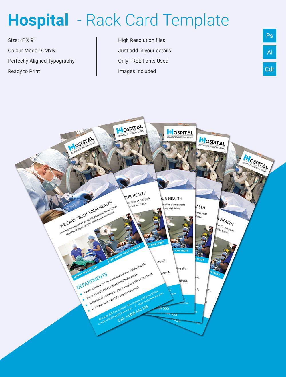 Free & Premium Templates Rack card templates, Card